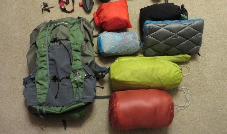 Packing a Tent and Sleeping Bag Inside Internal Frame Backpacks
