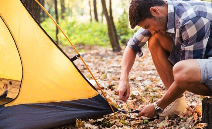Putting Up a Tent By Yourself
