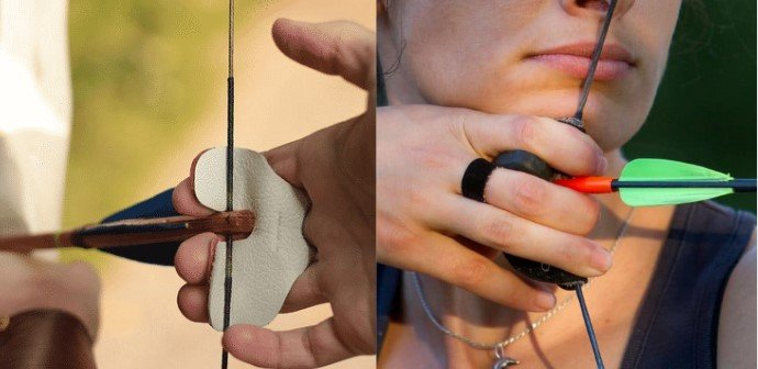Two Common Ways Of Holding The Bowstring