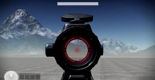 aiming with a sight