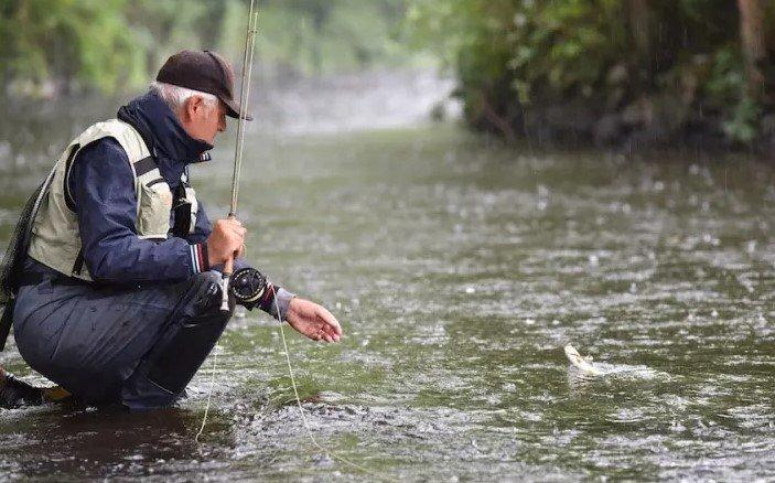 Fly Fishing In The Rain