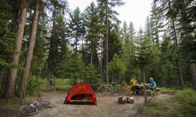 Camp In Whitefish at Montana